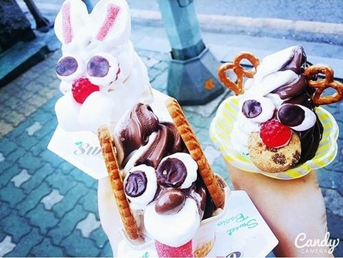 Animal-like ice-cream in Korea