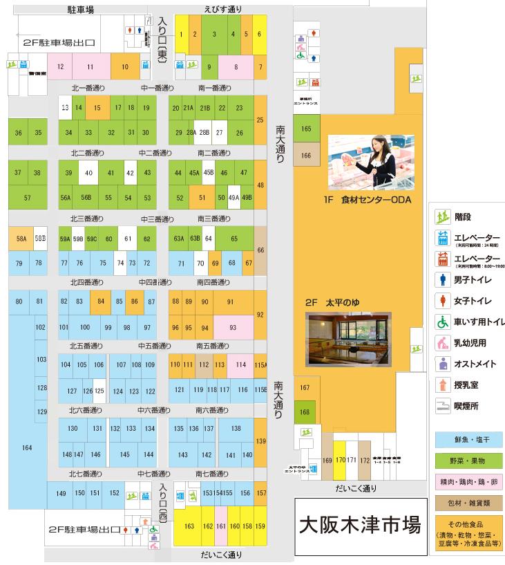 Floor Map of Kizu Market