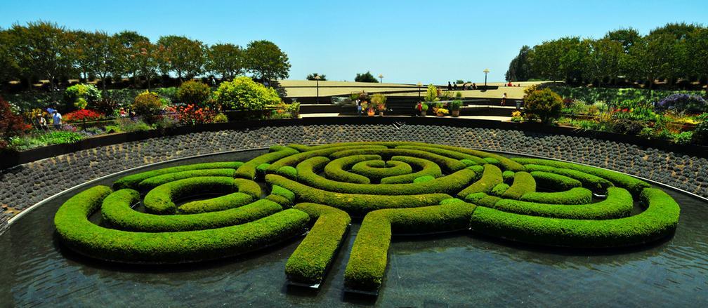 Maze Garden in the Getty Center