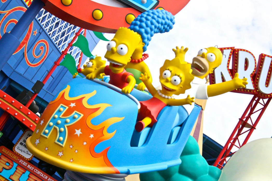Simpsons at Universal Studios Hollywood