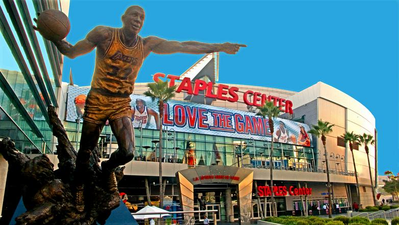 Front view of Staples Center