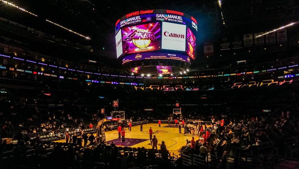 Inside view of Staples Center